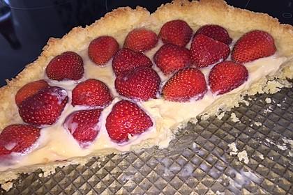 Weißer Schokokuchen mit Erdbeeren 20