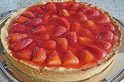Weißer Schokokuchen mit Erdbeeren 19