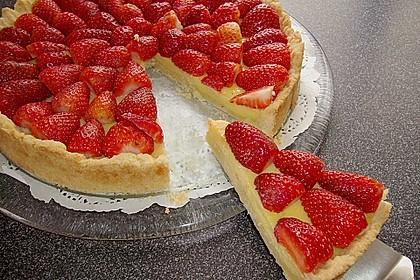Weißer Schokokuchen mit Erdbeeren 2