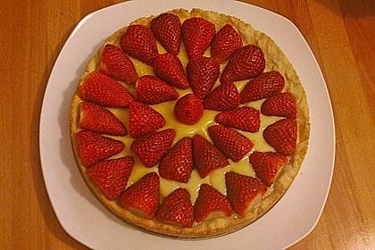 Weißer Schokokuchen mit Erdbeeren 10