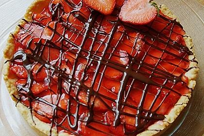 Weißer Schokokuchen mit Erdbeeren 17