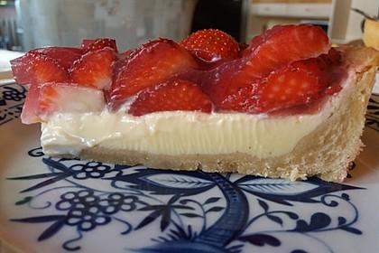 Weißer Schokokuchen mit Erdbeeren 3