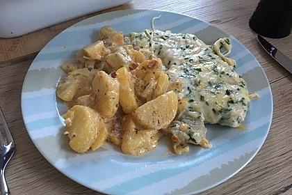 Bratkartoffelauflauf mit Schnitzel 45