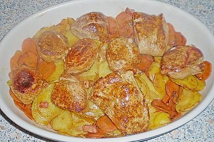 Bratkartoffelauflauf mit Schnitzel 64