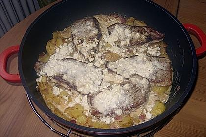 Bratkartoffelauflauf mit Schnitzel 52