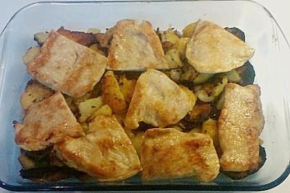 Bratkartoffelauflauf mit Schnitzel 50