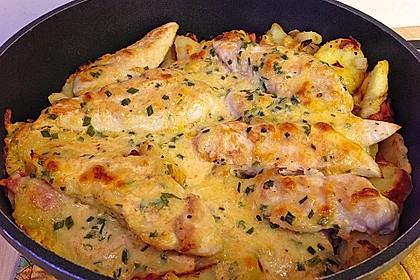Bratkartoffelauflauf mit Schnitzel 12