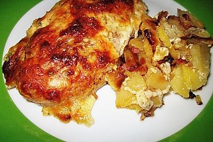 Bratkartoffelauflauf mit Schnitzel 26