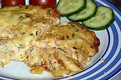 Bratkartoffelauflauf mit Schnitzel 17