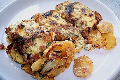 Bratkartoffelauflauf mit Schnitzel 19