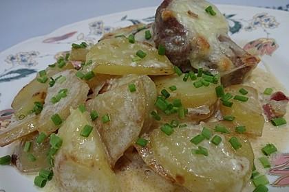 Bratkartoffelauflauf mit Schnitzel 39
