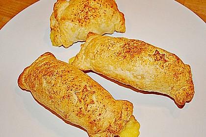 Gefüllter Blätterteig mit Schinken und Käse 2