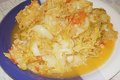 Wirsingkohl mit Tomaten 1