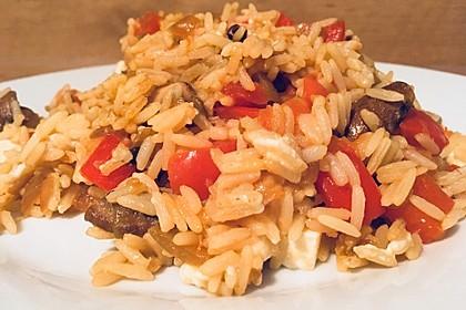 Vegetarische Reispfanne 5