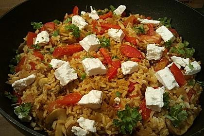 Vegetarische Reispfanne 4