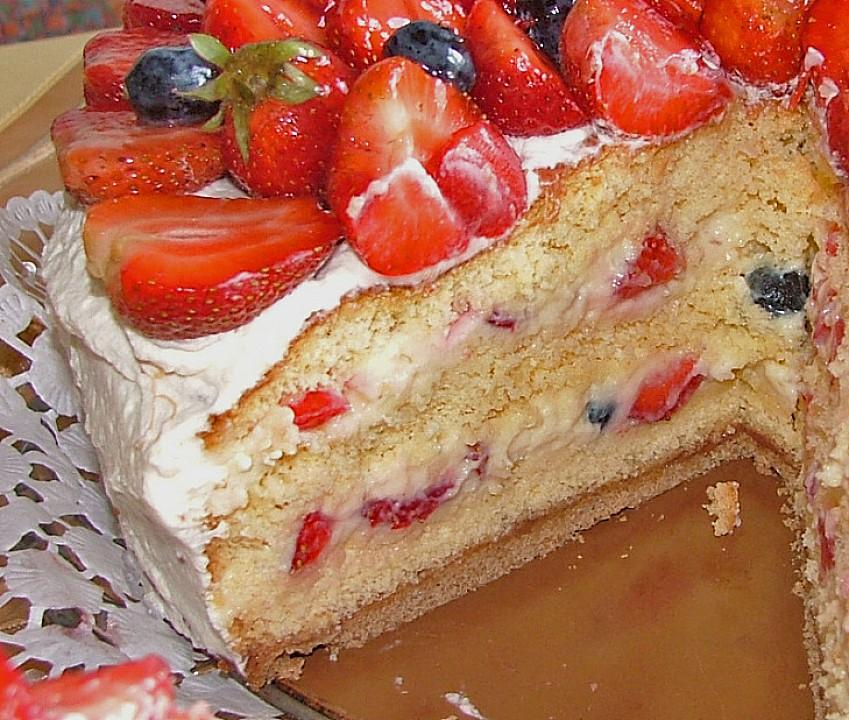 Erdbeer Vanille Torte Von Heddu Chefkoch De