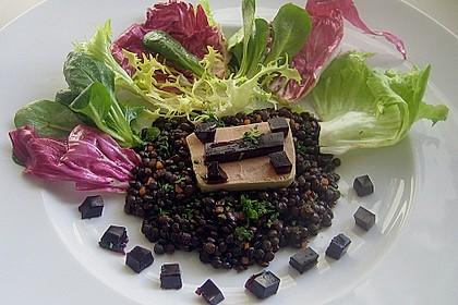 Foie Gras auf Belugalinsen und Portweingelee 3