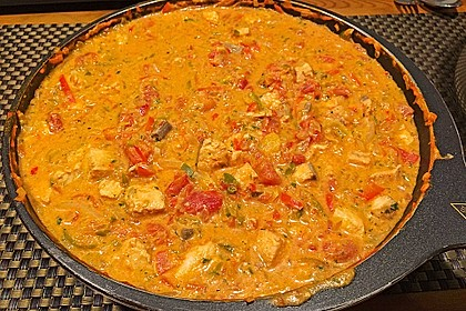 Paprika - Lachs- Pfanne mit Pasta 2