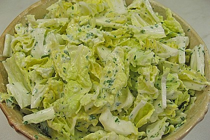 Chinakohlsalat mit süß - saurem Joghurtdressing 2