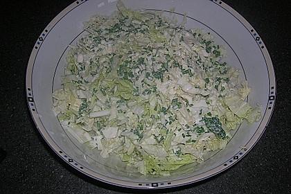 Chinakohlsalat mit süß - saurem Joghurtdressing 5