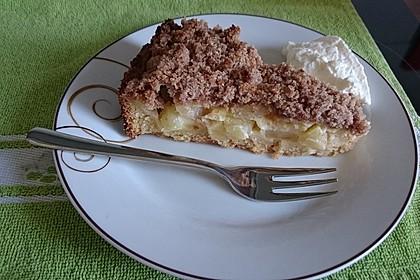 Apfel - Streuselkuchen mit Vanille - Schmand