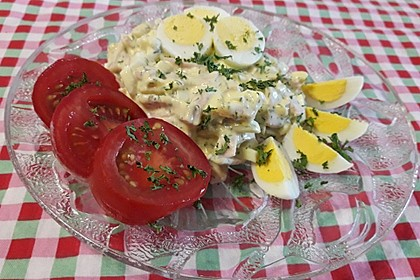 Pikanter Eiersalat mit Senfmayonnaise (Bild)