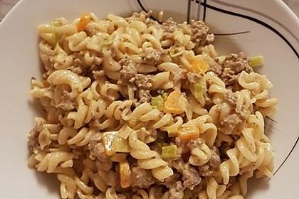 Curry - Sahne - Nudeln mit Gehacktem 5