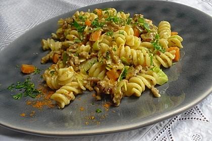 Curry - Sahne - Nudeln mit Gehacktem 2