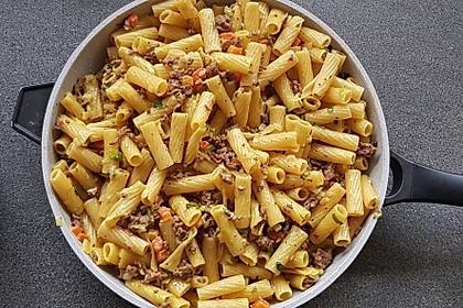 Curry - Sahne - Nudeln mit Gehacktem 1