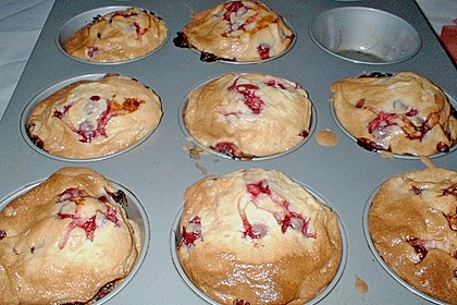 Johannisbeer - Rahm - Muffins (Bild)