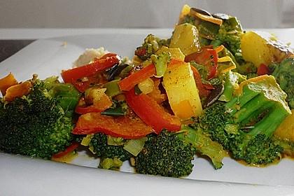 Mango - Gemüse - Pfanne mit Pilzen