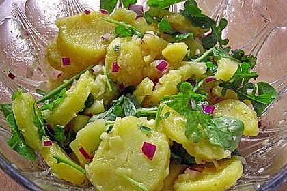 Kartoffel - Rucola Salat mit Hühnchenbruststreifen 1
