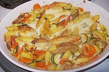 Schupfnudelpfanne mit Gemüse und Mozzarella 31