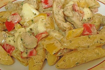 Schupfnudelpfanne mit Gemüse und Mozzarella 51