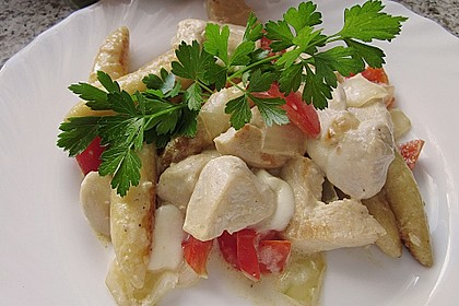 Schupfnudelpfanne mit Gemüse und Mozzarella 12