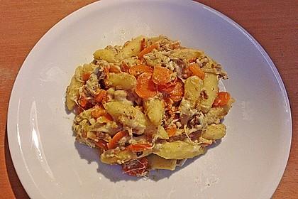 Schupfnudelpfanne mit Gemüse und Mozzarella 40