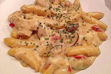 Schupfnudelpfanne mit Gemüse und Mozzarella 5