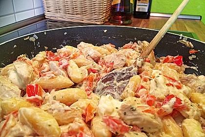 Schupfnudelpfanne mit Gemüse und Mozzarella 34