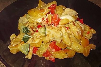 Schupfnudelpfanne mit Gemüse und Mozzarella 13