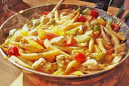 Schupfnudelpfanne mit Gemüse und Mozzarella 48