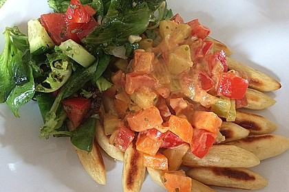 Schupfnudelpfanne mit Gemüse und Mozzarella 16
