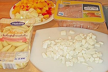 Schupfnudelpfanne mit Gemüse und Mozzarella 61