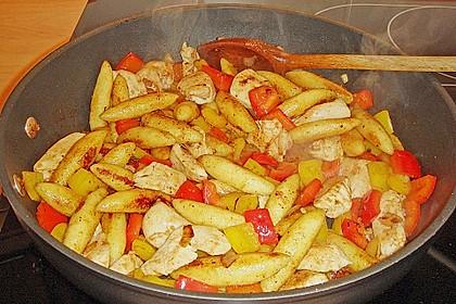 Schupfnudelpfanne mit Gemüse und Mozzarella 38