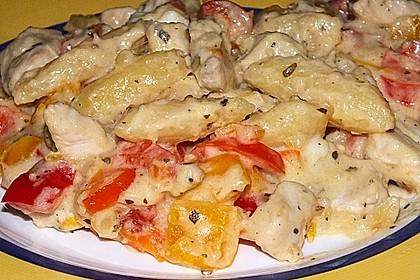 Schupfnudelpfanne mit Gemüse und Mozzarella 23