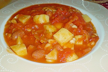 Bohneneintopf mit Cabanossi 15