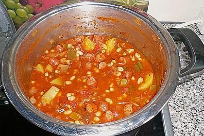 Bohneneintopf mit Cabanossi 17