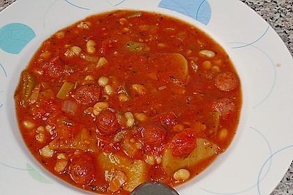 Bohneneintopf mit Cabanossi 13