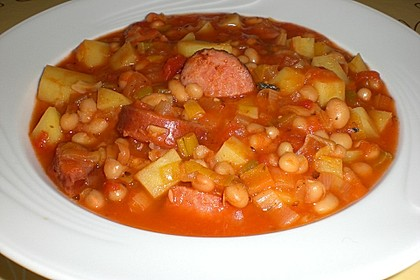 Bohneneintopf mit Cabanossi 1