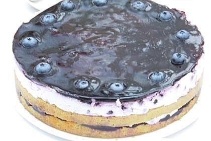Heidelbeer - Schmand - Torte (Bild)