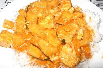 Rotes Thai - Fischcurry mit Mango und Ananas 1